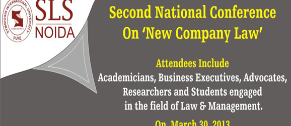 Symbiosis law school noida second conference on new company law